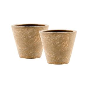 Palatino - 9.75 Inch Planters Fossil (Set of 2)