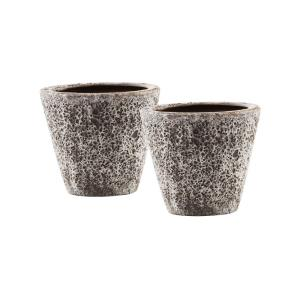 Palatino - 9.75 Inch Planters Brown (Set of 2)