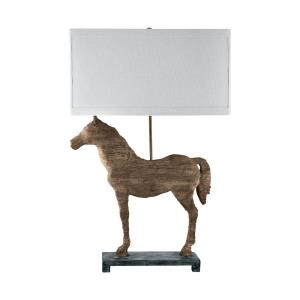 Composite - One Light Carved Horse Table Lamp