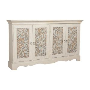 Waterfront - Traditional Style w/ Eclectic inspirations - Mahogany 4-Door Cottage Credenza - 40 Inches tall 72 Inches wide