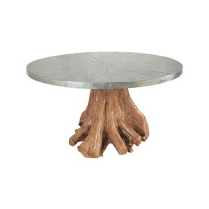 "Teak - 60"" Outdoor Root Dining Table"