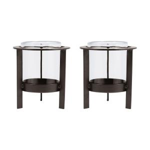 "Canal Street - 8.25"" Pillar Holder (Set of 2)"