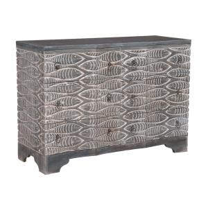 Waterfront - Transitional Style w/ Coastal/Beach inspirations - Mahogany Harmony 6-Drawer Chest - 34 Inches tall 48 Inches wide