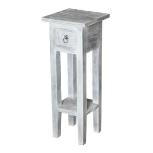 Sutter - Traditional Style w/ FrenchCountry inspirations - Mahogany Accent Table - 27 Inches tall 10 Inches wide