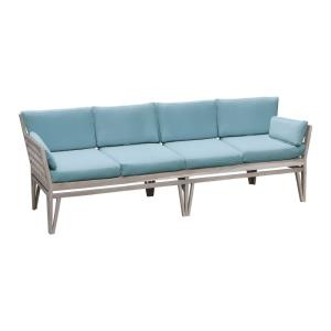 Parry Court - Traditional Style w/ Coastal/Beach inspirations - Teak Outdoor 4-Seat Sofa - 32 Inches tall 103 Inches wide