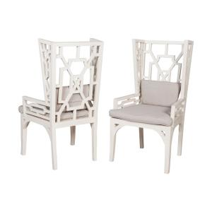 """Manor - 24.5"""" Wing Chair with Cushions(Set of 2)"""