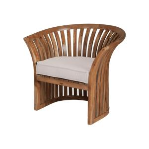 Teak Barrel - 34 Inch Chair