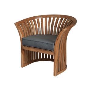 """Teak - 34"""" Outdoor Barrel Chair"""
