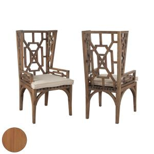 "Teak - 48"" Outdoor Wingback Chair (Set of 2)"