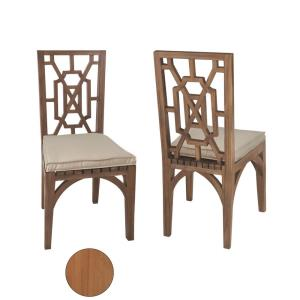 "Teak - 39"" Outdoor Garden Dining Chair (Set of 2)"