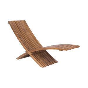 "Teak - 82"" Outdoor Folding Lounge Chair"