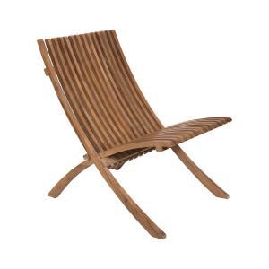 """Teak - 35.5"""" Outdoor Folding Chair"""