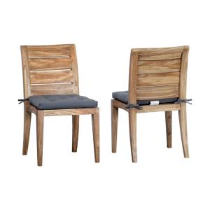 """Teak - 35"""" Outdoor Club Side Chair I (Set of 2)"""