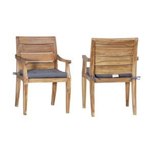 "Teak - 35"" Outdoor Club Side Chair (Set of 2)"