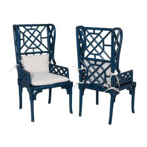 Bamboo - 47 Inch Wing Back Chair (Set of 2)
