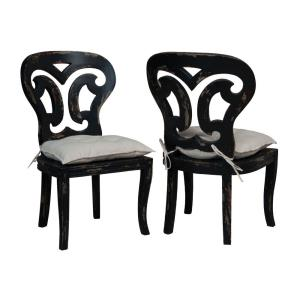 Artifacts - Traditional Style w/ FrenchCountry inspirations - Mahogany Side Chair (Set of 2) - 39 Inches tall 24 Inches wide