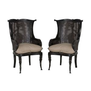 Caned - 49 Inch Wing Back Chair (Set of 2)