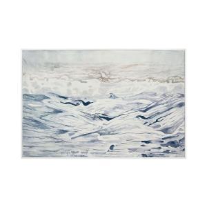 "Rip Tide - 61"" Handpainted Wall Art"