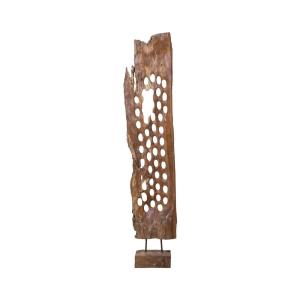 "Perforated - 49"" Teak Screen Sculpture"