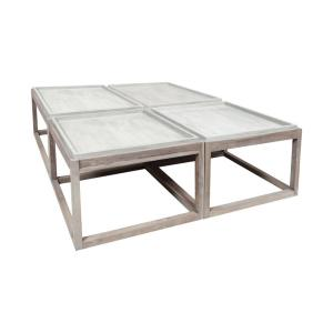"48"" Concrete Outdoor Parsons Table (Set of 4)"