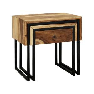 """Live Wrap - 21.66"""" Nesting Side Tables"""