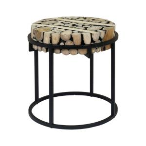 Suar Slice - 21.26 Inch Side Table