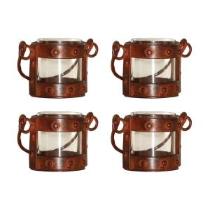 "Mission - 4.75"" Votive Lantern (Set of 4)"