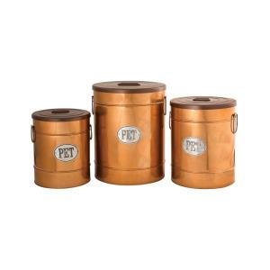 """Coppersmith - 19"""" Pet Canisters (Set of 3)"""
