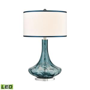 "Glass - 17.5"" 9.5W 1 LED Table Lamp"