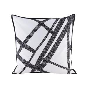 "Intersections - 24"" Pillow With Goose Down Insert"