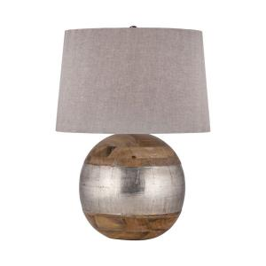 German Silver - Transitional Style w/ ModernFarmhouse inspirations - Mango Wood and German Silver 1 Light Table Lamp - 27 Inches tall 12 Inches wide