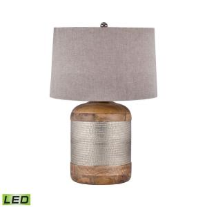 "29"" 9.5W 1 LED Drum Table Lamp"