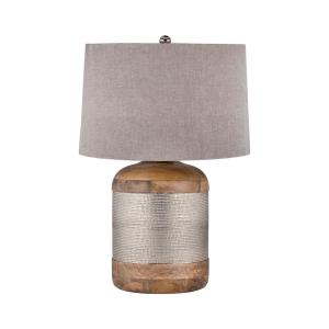 German Silver - 18 Inch One Light Table Lamp