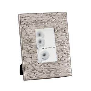 Allegro - Transitional Style w/ Luxe/Glam inspirations - Aluminum Small Photo Frame - 8 Inches tall 10 Inches wide