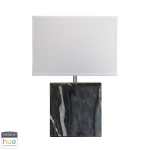 """20"""" 60W 1 LED Square Table Lamp with Philips Hue LED Bulb/Dimmer"""