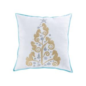 Coastal Christmas - 24x24 Inch Pillow Cover Only