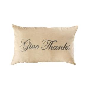 Give Thanks - 16x26 Inch Lumbar Pillow Cover Only