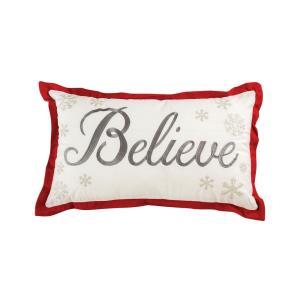 "Believe - 16x26"" Lumbar Pillow Cover Only"