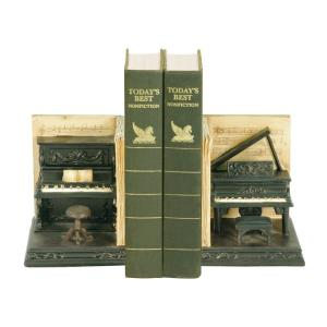 "Dueling Piano - 9"" Bookend (Set of 2)"