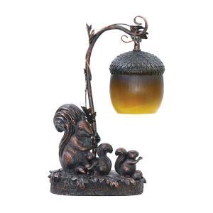 Squirrel Acorn Light - One Light Table Lamp