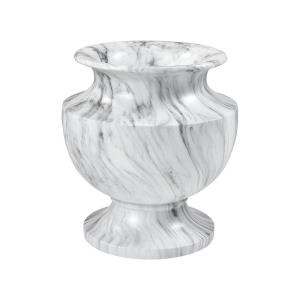 Via Appia - Traditional Style w/ Luxe/Glam inspirations - Fiberglass Small Marbling Planter - 17 Inches tall 16 Inches wide