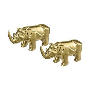 Great Karoo - 13.8 Inch Ceramic Rhino (Set of 2)