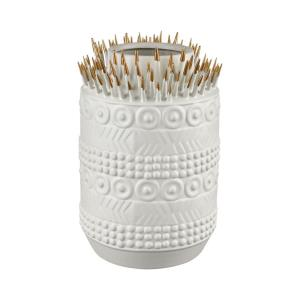 Thrilling Quill - Modern/Contemporary Style w/ Luxe/Glam inspirations - Earthenware Vase - 13 Inches tall 9 Inches wide