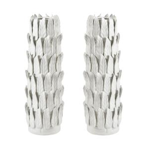 Sargent - Modern/Contemporary Style w/ Luxe/Glam inspirations - Earthenware Vase (Set of 2) - 21 Inches tall 7 Inches wide