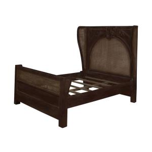 "Caned - 85.75"" Acanthus Queen Bed"
