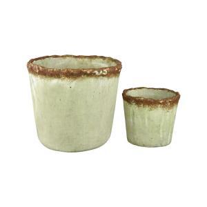 """Contempo - 9.75"""" Pots (Set of 2)"""