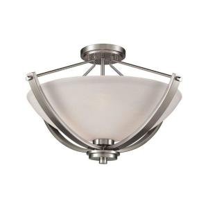 Casual Mission - Three Light Semi-Flush Mount