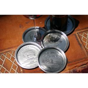 "4.5"" Wine Glass Coasters Euro (Set of 4)"