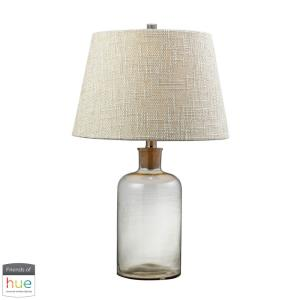 "Glass Bottle - 26"" 60W 1 LED Cork Kneck Table Lamp with Philips Hue LED Bulb/Dimmer"