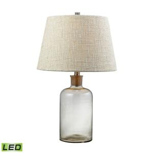 "Glass Bottle - 26"" 9.5W 1 LED Cork Kneck Table Lamp"